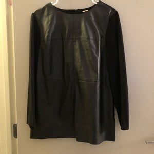 Chicos Black Label Vegan Leather Tunic